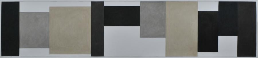 Drawing for a Long wall #8, 2013, 45 x 203 cm, courtesy l_artista e Galleria Michela Rizzo